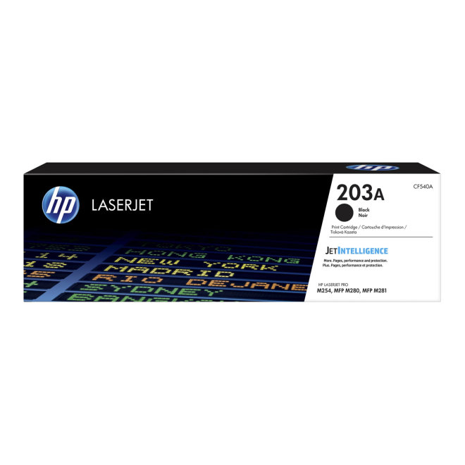 HP 203A Black Original LaserJet Toner Cartridge [CF540A]