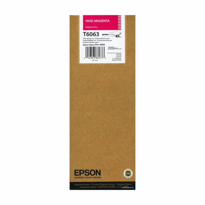Epson tinta Vivid Magenta T606300, 220 ml, Original [C13T606300]