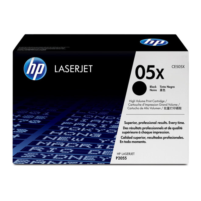 HP 05X High Yield Black Original LaserJet Toner Cartridge [CE505X]