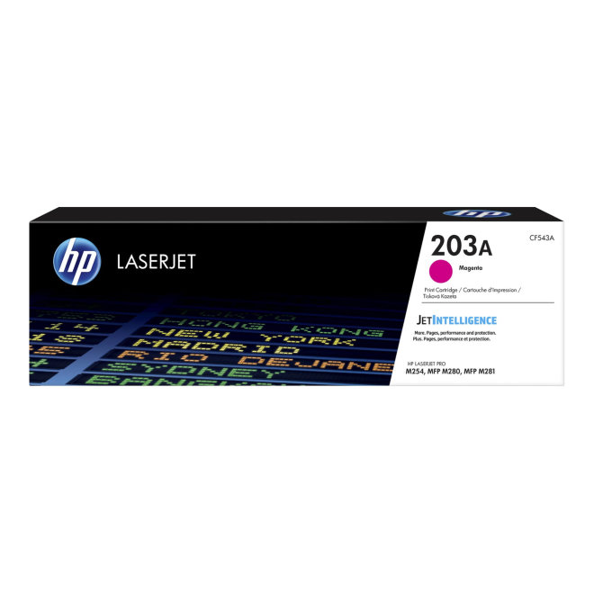 HP 203A Magenta Original LaserJet Toner Cartridge [CF543A]