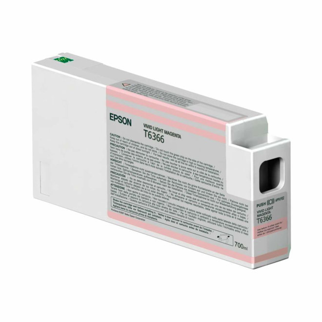 Epson tinta Vivid Light Magenta T636600, UltraChrome HDR, 700 ml, Original [C13T636600]
