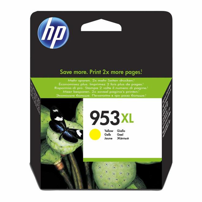 HP 953XL High Yield Yellow Original Ink Cartridge [F6U18AE]