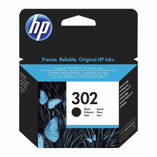 HP 302 Black Original Ink Cartridge [F6U66AE]