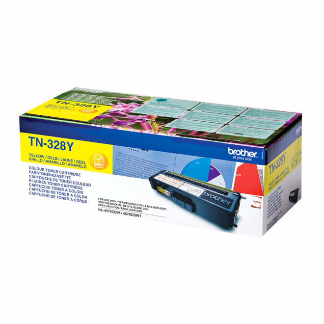 Brother toner TN-328Y, Yellow, cca 6.000 stranica, Original [TN328Y]