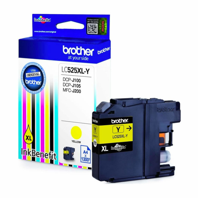 Brother tinta LC525XLY, Yellow, cca 1.300 stranica, Original [LC525XLY]