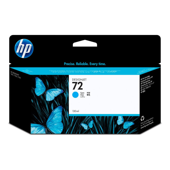 HP 72 130-ml Cyan DesignJet Original Ink Cartridge [C9371A]