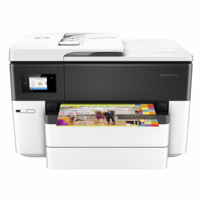 HP OfficeJet Pro 7740 Wide Format, višefunkcijski pisač, tintni ispis u boji, A3, Ethernet, USB, Touchscreen, ADF, 60 – 105 g/m² [G5J38A#A80]