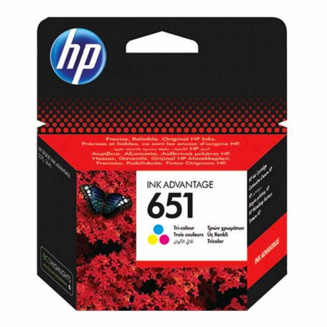 HP 651 Tri-colour Original Ink Cartridge [C2P11AE]