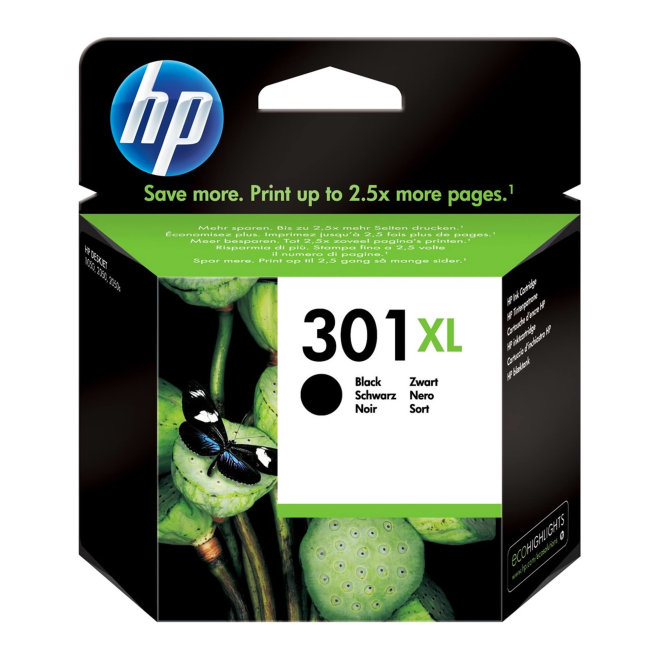 HP 301XL High Yield Black Original Ink Cartridge [CH563EE]