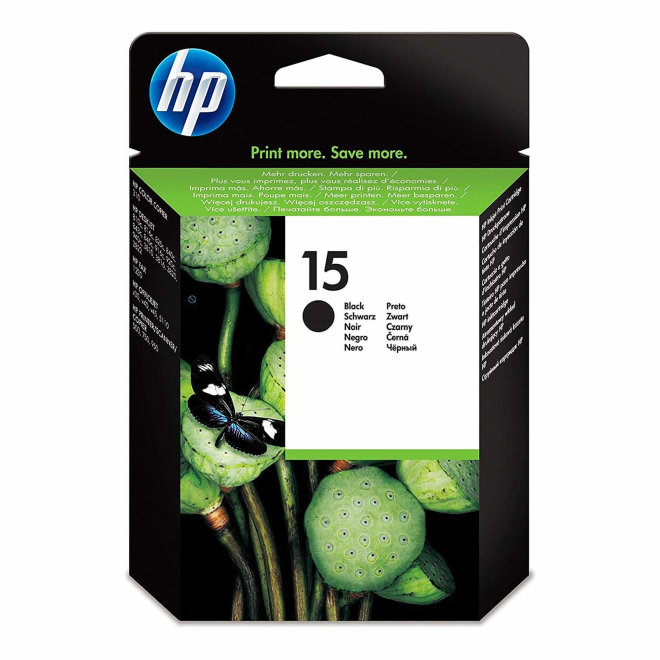 HP 15 Large Black Ink Cartridge, tinta, cca 500 ispisa, Original [C6615DE]