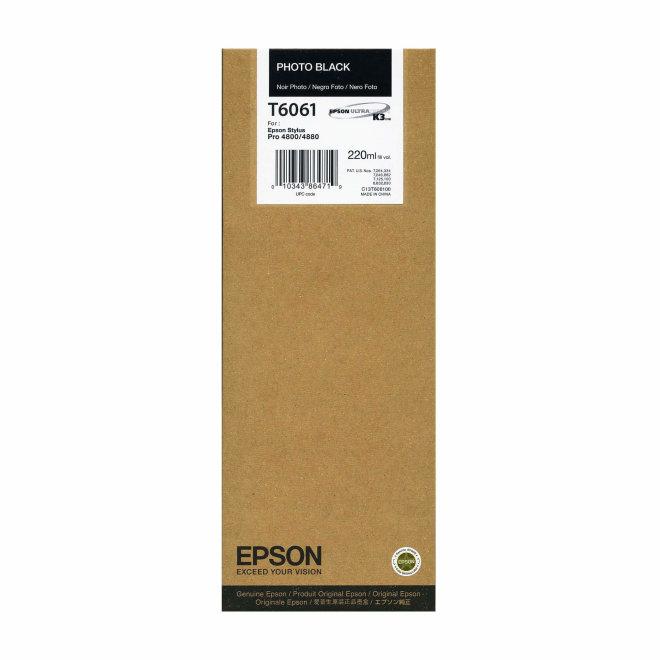 Epson tinta Photo Black T606100, 220 ml, Original [C13T606100]
