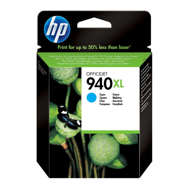 HP 940XL High Yield Cyan Original Ink Cartridge [C4907AE]