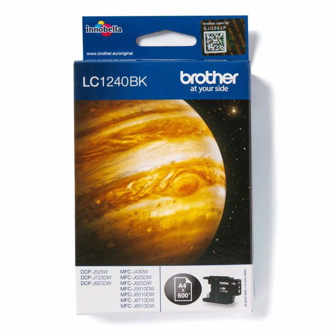 Brother tinta LC1240BK, Black, cca 600 stranica, Original [LC1240BK]