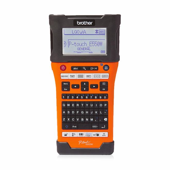 Brother P-Touch PT-E550WSP + 4 trake, profesionalni pisač za naljepnice, WiFi, USB, LCD, Li-ion Rechargeable Battery, kutija [PTE550WSPYJ1]