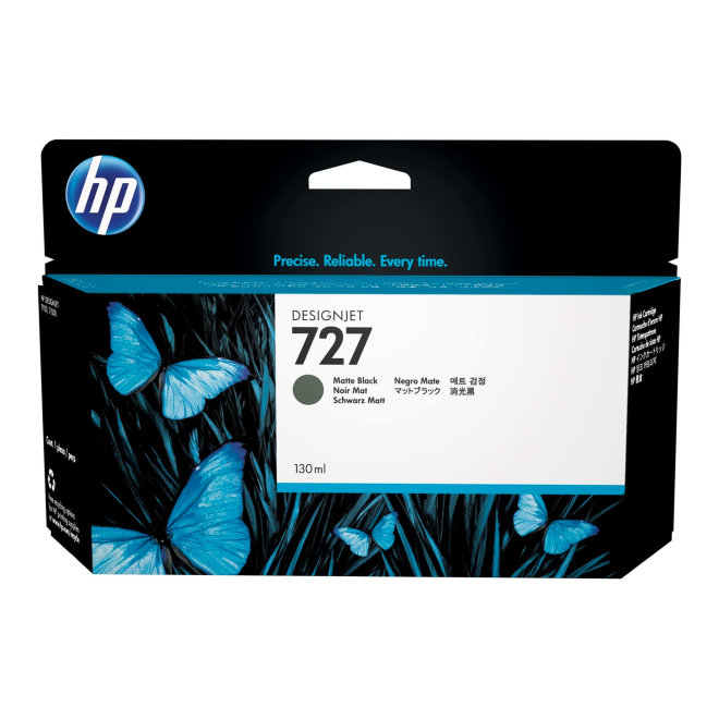 HP 727 130-ml Matte Black DesignJet Ink Cartridge, Original [B3P22A]