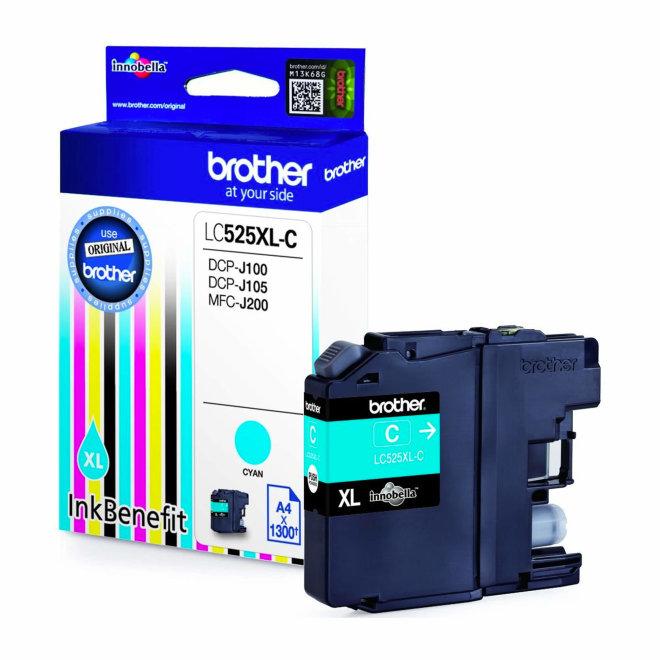 Brother tinta LC525XLC, Cyan, cca 1.300 stranica, Original [LC525XLC]