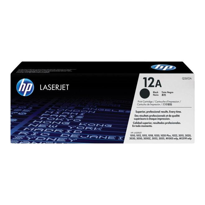 HP 12A Black Original LaserJet Toner Cartridge [Q2612A]