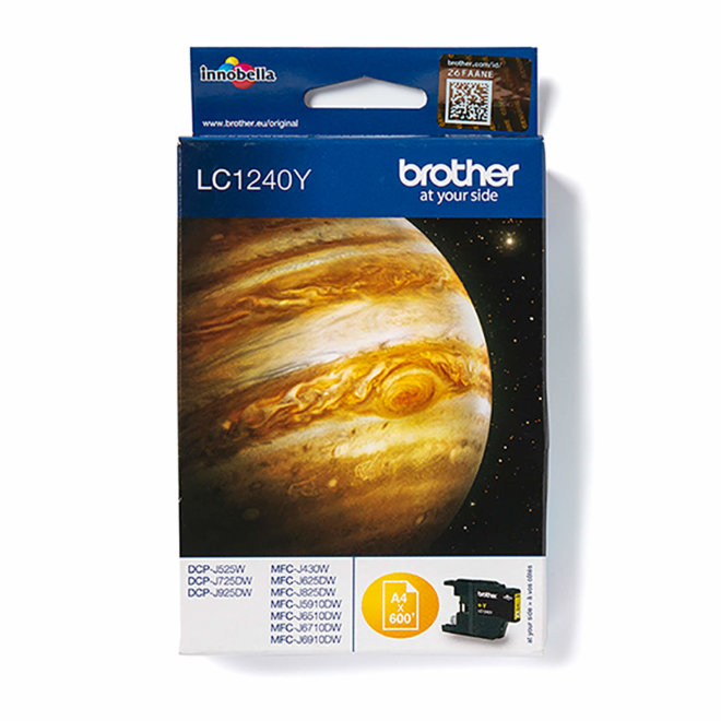 Brother tinta LC1240Y, Yellow, cca 600 stranica, Original [LC1240Y]