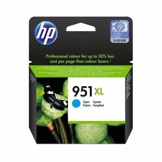 HP 951XL High Yield Cyan Ink Cartridge, cca 1.500 ispisa, Original [CN046AE#BGY]
