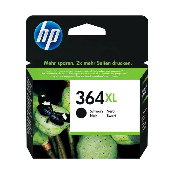 HP 364XL High Yield Black Ink Cartridge, tinta, cca 550 ispisa, Original [CN684EE#BA3]