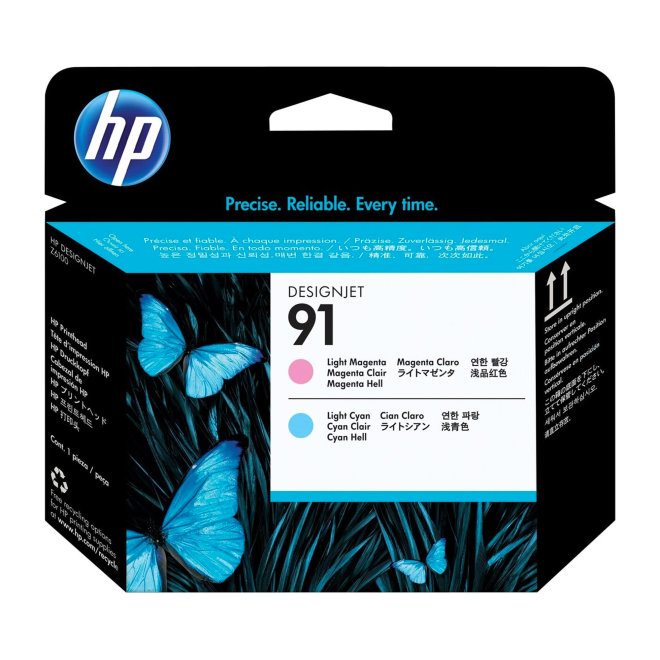 HP 91 Light Magenta and Light Cyan DesignJet Printhead, glava, Original [C9462A]