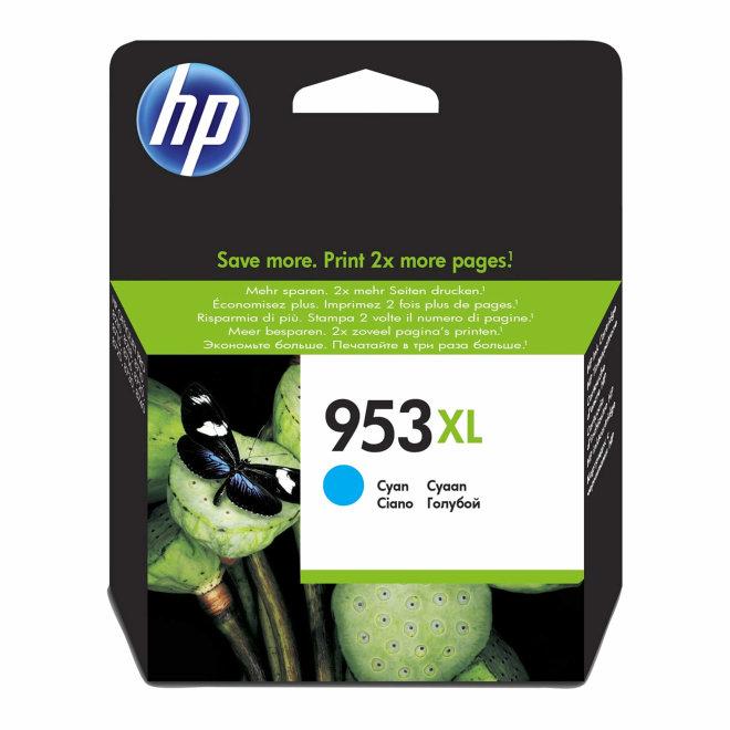 HP 953XL High Yield Cyan Original Ink Cartridge [F6U16AE]