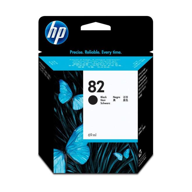 HP 82 69-ml Black DesignJet Ink Cartridge, tinta, Original [CH565A]