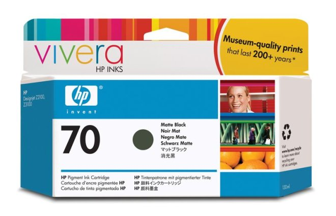 HP 70 130-ml Matte Black DesignJet Ink Cartridge, tinta, Original [C9448A]