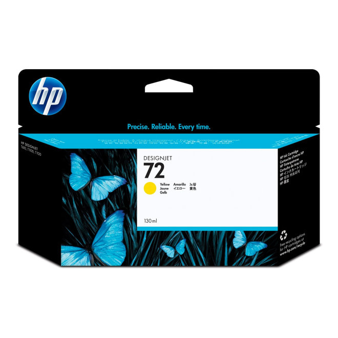 HP 72 130-ml Yellow DesignJet Original Ink Cartridge [C9373A]