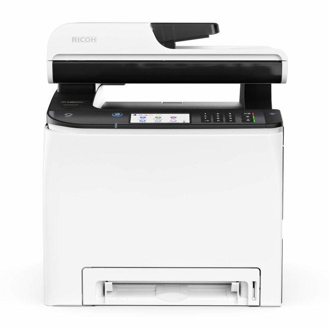 Ricoh SP C261SFNw, višefunkcijski pisač, laserski ispis u boji, A4, WiFi, USB, Ethernet, ADF, Dupleks, Touchscreen, 60 – 160 g/m² [408237]