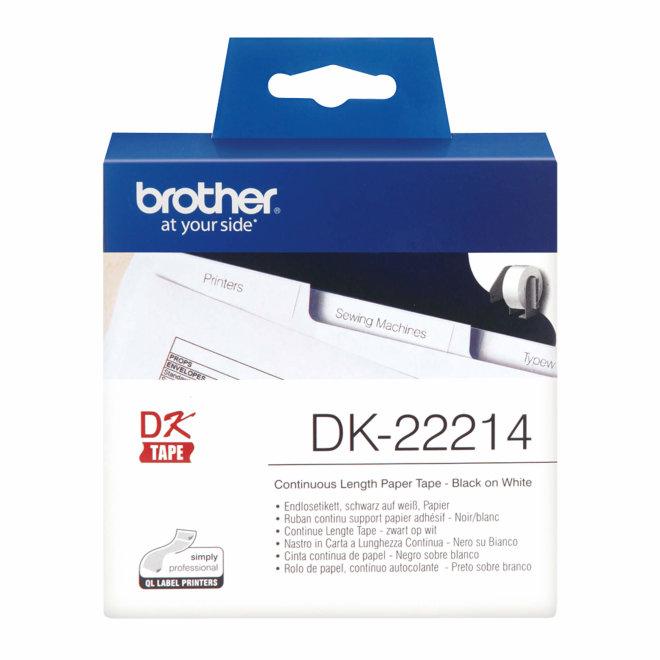 Brother naljepnice DK-22214, bijela rola s crnim ispisom, širina 12 mm, dužina 30,48 m [DK22214]