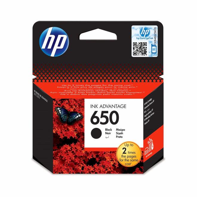 HP 650 Black Ink Cartridge, cca 650 ispisa, Original [CZ101AE]