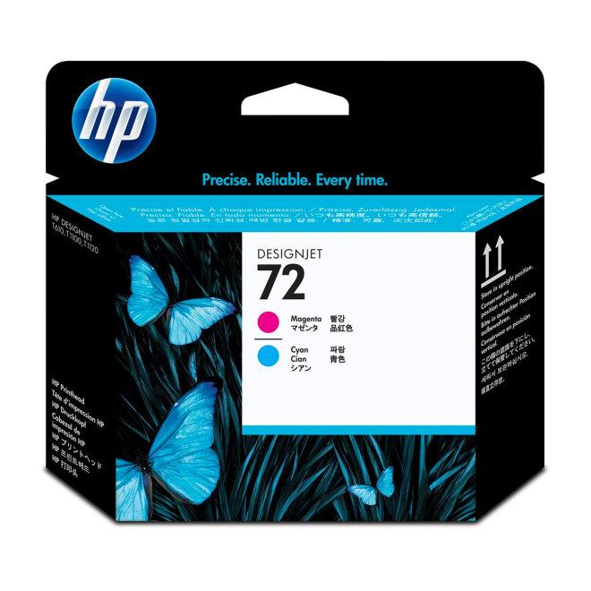 HP 72 Magenta and Cyan Original Printhead/Glava [C9383A]