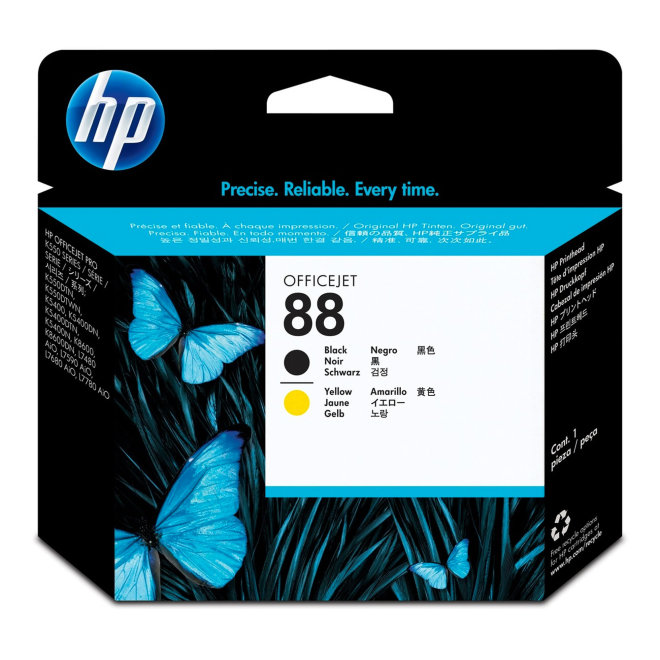 HP 88 Black and Yellow Original Printhead/Glava [C9381A]