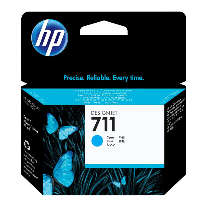 HP 711 29-ml Cyan DesignJet Original Ink Cartridge [CZ130A]