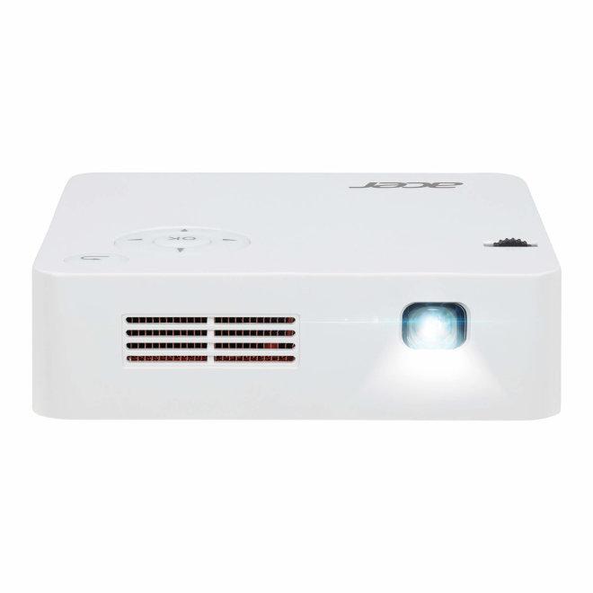 Acer C202i, projektor, LED, DLP SVGA, WiFi, HDMI, ugrađena baterija, 300 lm, Bijela, 400 g [MR.JR011.001]