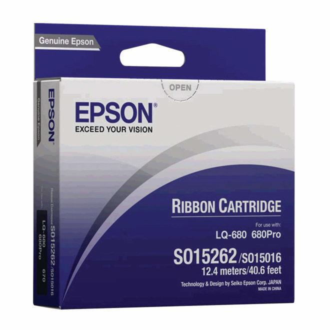 Epson ribon kazeta, SIDM Black Ribbon Cartridge, za LQ-670 / 680 / pro / 860 / 1060 / 25xx, cca 2M znakova, Original [C13S015262]