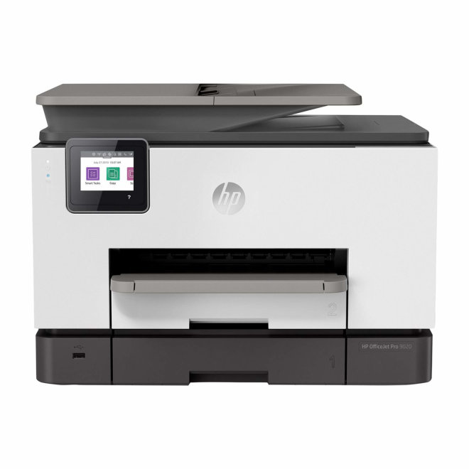 HP OfficeJet Pro 9020, višefunkcijski pisač, tintni ispis u boji, A4, WiFi, Ethernet, USB, ADF, Dupleks, Touchscreen, 60 – 280 g/m² [1MR78B#A80]