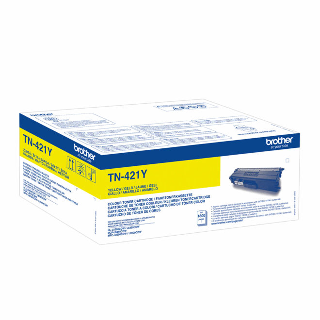 Brother toner TN-421Y, Yellow, cca 1.800 stranica, Original [TN421Y]