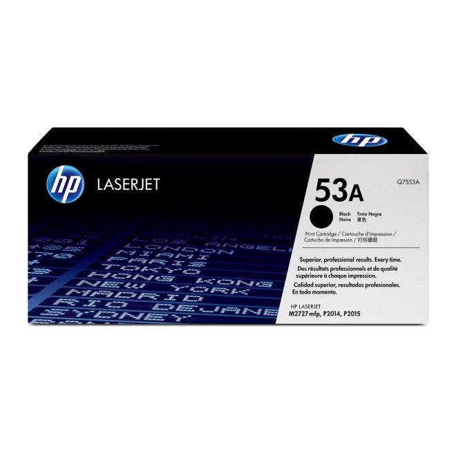 HP 53A Black LaserJet Toner Cartridge, kazeta, cca 3.000 ispisa, Original [Q7553A]