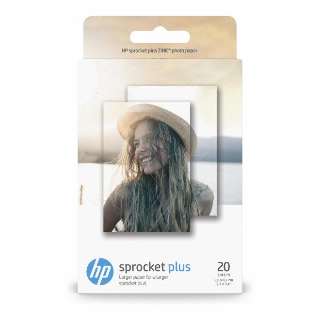 HP Sprocket Plus Photo Paper ZINK® Sticky-backed, 5,8 x 8,7 cm, 20 listova [2LY72A]