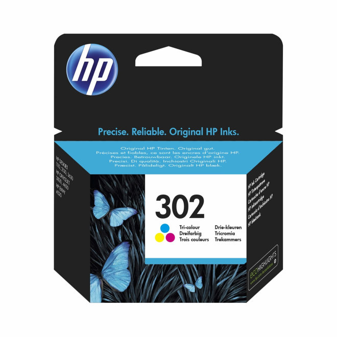 HP 302 Tri-color Ink Cartridge, cca 165 ispisa, Original [F6U65AE]