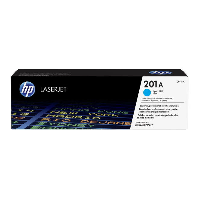 HP 201A Cyan Original LaserJet Toner Cartridge [CF401A]