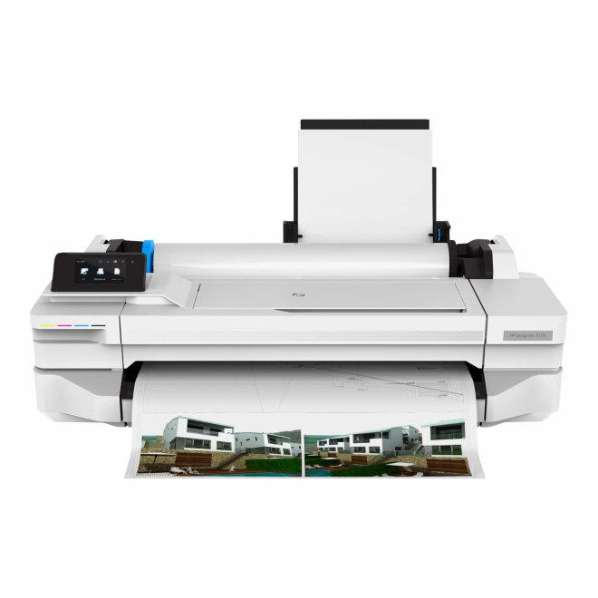"HP DesignJet T125 24-in Printer, tintni ploter u boji, 24"", 45 sek/str A1, 256MB RAM, 1200 x 1200 dpi, WiFi, Mreža, USB [5ZY57A#B19]"