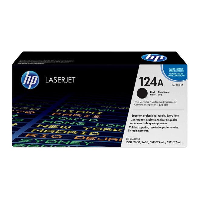 HP 124A Black Original LaserJet Toner Cartridge [Q6000A]