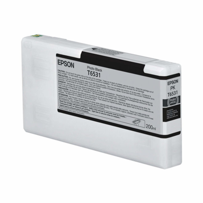 Epson tinta T6531 Photo Black Ink Cartridge, 200 ml, Original [C13T653100]