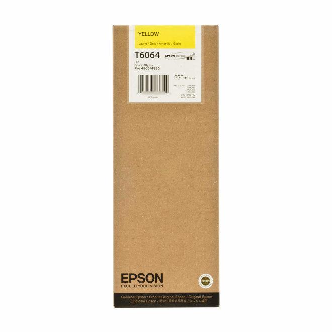 Epson tinta Yellow T606400, 220 ml, Original [C13T606400]