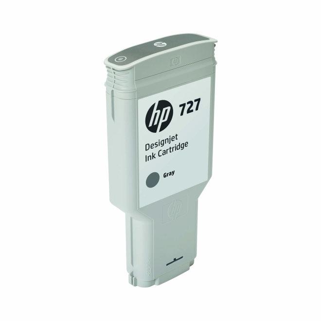 HP 727 300-ml Gray DesignJet Ink Cartridge, Original [F9J80A]