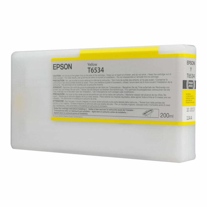 Epson T6534 Yellow Ink Cartridge, tinta, 200 ml, Original [C13T653400]
