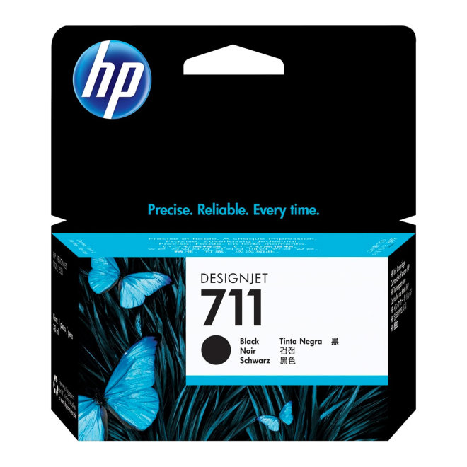 HP 711 38-ml Black DesignJet Original Ink Cartridge [CZ129A]